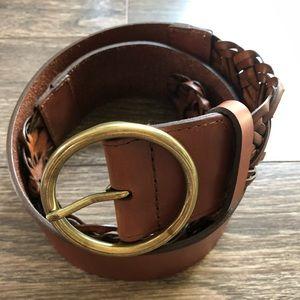 Loft brown leather belt / M